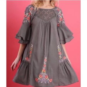 Altar'd State :: floral embroidered dress